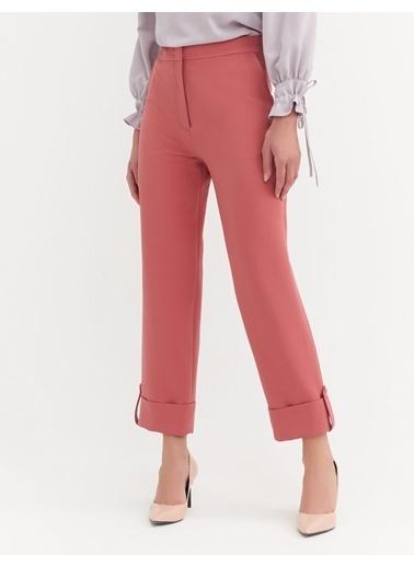BGN Gül Rengi - Duble Paça Pantolon Kırmızı